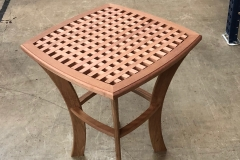 cropped deck table