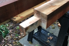 Bottom End for Porch Support Cedar Posts