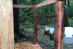 Cedar Framing for Porch Support